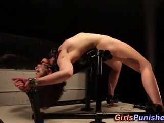 Lezdom restrained bondage skank whipped by nasty bdsm mistress