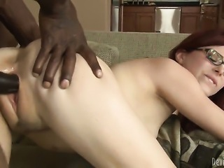 Wesley Pipes drills adorably sexy Penny Paxs beautiful face with his pole
