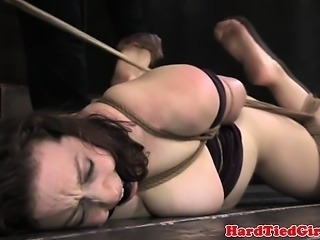 Restrained bitch getting humiliated