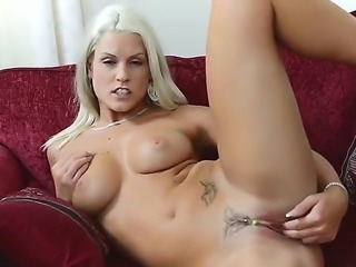 Blanche Bradburry is a dreamy blonde with a slim and firm body made for...