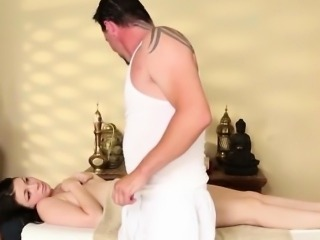 Harley Ace is a little shy for masseur