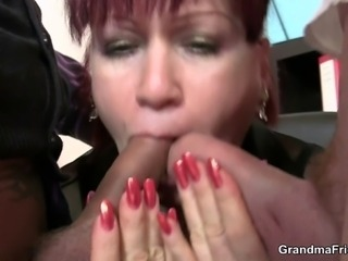 Cocksucking office bitch riding cock