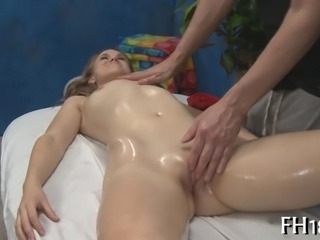 Hot 18 year old girl gets fucked hard from behind by her massage therapist