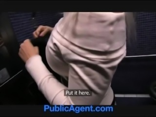 PublicAgent Sexy Blonde fucked in public toilets for cash free