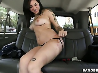 Well-stacked pornstar Alykat Lauren with big butt has tugjob experience of...