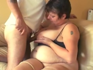 Amateur BBW Wife Fucks Husband on Camera