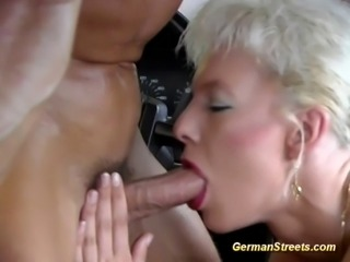 After is picked up by a driver, this dame gets one great drilling inside the...