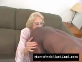 Horny big black dude fucks old slutty doggystyle in kitchen free