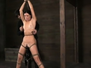 Vertically restrained sub spanked hard