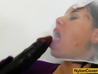 This time we please the nylon and pantyhose lesbians plus Winnie, the foxy...