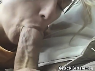 Mature Blonde Crack Whore Sucking Dick In Public Car