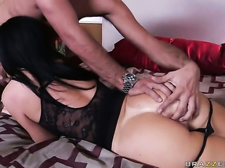 India Summer with small boobs is out of control with Keiran Lees pulsating...
