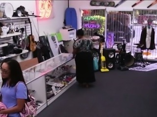 Nurse sells her panties at a pawn shop