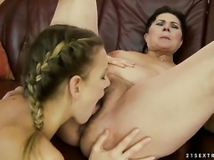 With giant melons cant wait to be tongue fucked her lesbian lover Berinice
