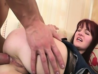 Beauteous gal is screwed in anal