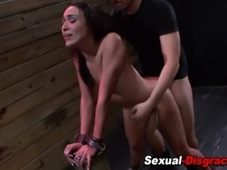 Bdsm slave slut throated and fucked by fetish master
