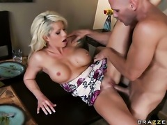 Brooke Haven with juicy tits is too horny to resist Johnny Sinss throbbing...