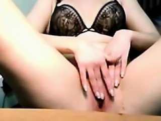 Girl Strips In Her Office