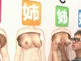 Japanese contestant gets nipples sucked