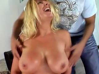 blonde big tit milf plays whore