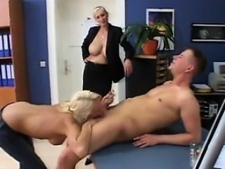 Sucking Cock In The Office
