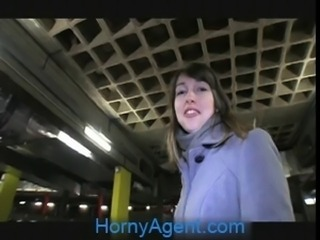 HornyAgent Lyda has sex in my car for cash to buy clothes
