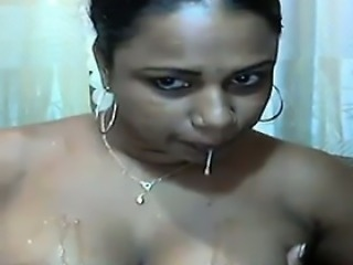 Indian Spitting On Her Tits