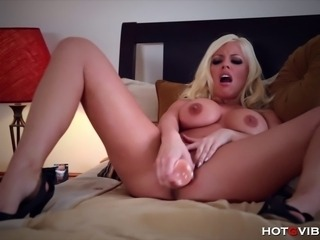 Bored from having to house sit for a friend, busty blonde porn star Brittney...