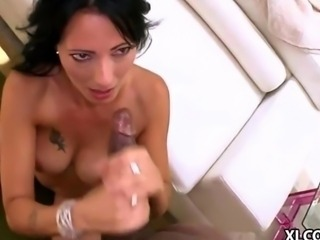 Zoey Holloway squirts on black cock