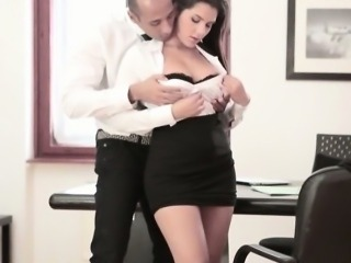 Busty office babe Valentina Nappi fucked by her nasty boss