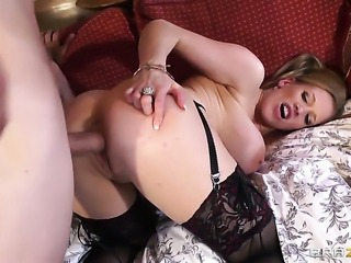 Rebecca Moore gets her back swing pounded outrageously by Danny D before she...