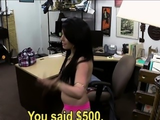 Busty Cuban babe Fucked in the office