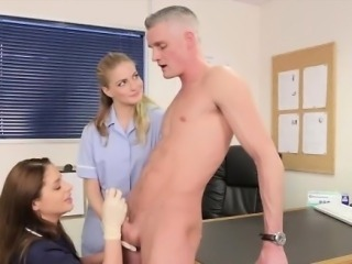 Cfnm fetish nurses get facial