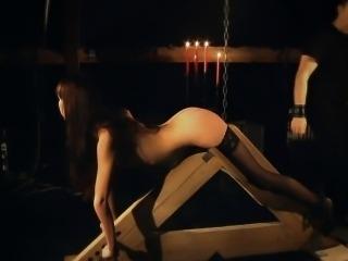 Elegant humiliation of slave girl in bdsm game