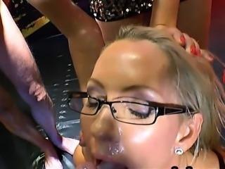Busty german sperm eater