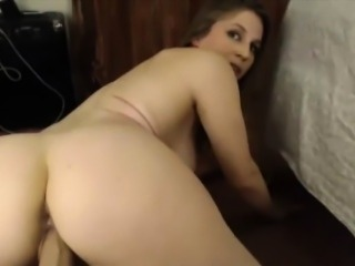 First time fucking machine for sexy redhead