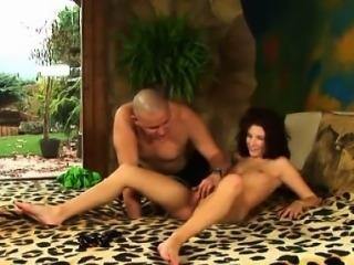 Adorable virgin tries her first jock