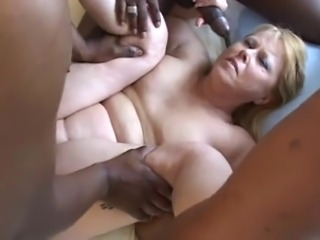 Mature with bunch of bbcs
