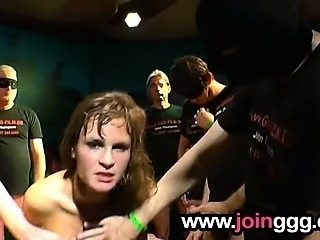 Intense group sperm orgy