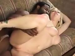Blonde Beauty Enjoying A Big Black Cock