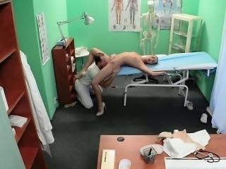 Doctor fucking beautiful nurse in fake hospital