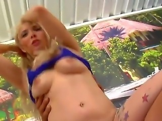 Horny blonde Penelope eating cock in a free blowjob videos scene