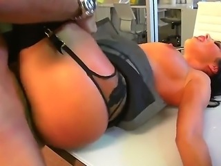 Unforgettable sex with big titted secretary Breanne Benson