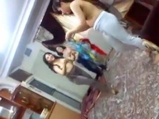 Indian Hostel Girls Topless enjoying