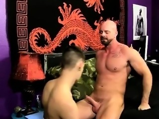 Gay clip of Chris gets the spunk plumbed out of him while he