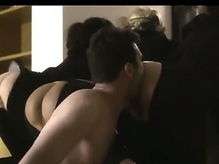James Deen bangs bare ass masked babes in the ass