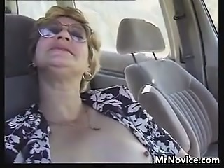 Grandma Fingered Fucked In The Car