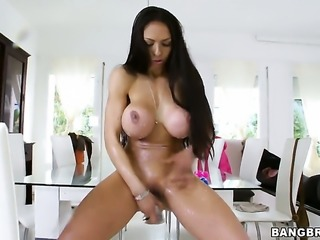 Marta La Croft with juicy tits gagging on stiff man meat of hot fuck buddy