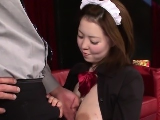 Asian milking maid jizzed