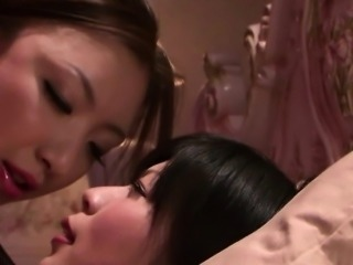 Strap on and fish net for Asian lesbians